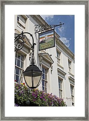 The Warwick Castle Pub Framed Print by Cheri Randolph