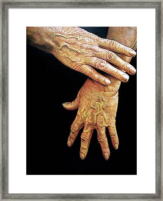 The Washer Woman Framed Print by Curtis James