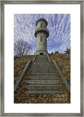 The Watch Tower - Oil Paint Framed Print by Billy Bateman