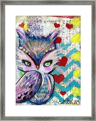 The Watcher Framed Print by Lizzy Love of Oddball Art Co
