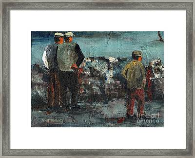The Watchers  Framed Print by Val Byrne