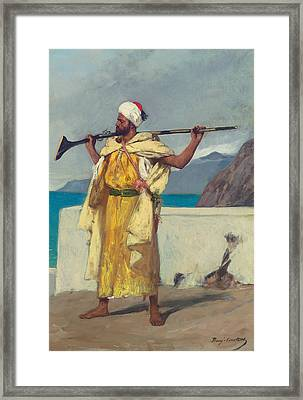 The Watchful Guard Framed Print by Jean Joseph Benjamin Constant