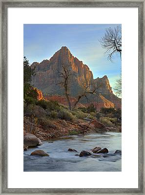 The Watchman In Winter-3 Framed Print by Alan Vance Ley