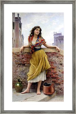The Water Carrier Framed Print by Eugene de Blaas