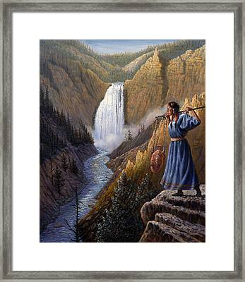 The Water Carrier Yellowstone Framed Print by Gregory Perillo