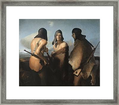 The Water Protectors Framed Print by Odd Nerdrum