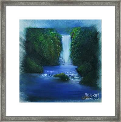 The Waterfall Framed Print by David Kacey