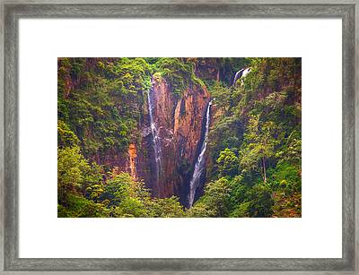 The Waterfalls. Sri Lanka Framed Print by Jenny Rainbow