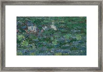 The Waterlily Pond Green Harmony Framed Print by Claude Monet