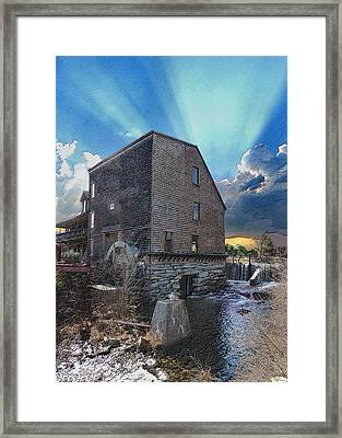 The Waterwheel Framed Print by Fred LaPoint