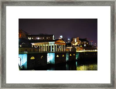 The Waterworks At Night Framed Print by Bill Cannon