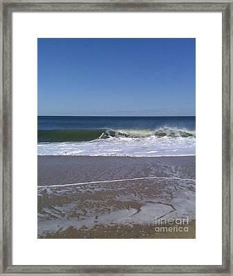 The Wave Framed Print by Arlene Carmel