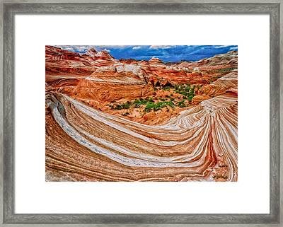 The Wave Framed Print by Kathleen Bishop