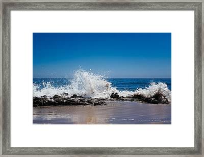 The Waves Of Carpinteria Framed Print by Tony Boyajian