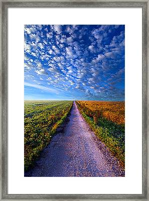 The Way Is Clear Framed Print by Phil Koch