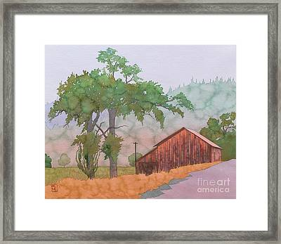 The Way To Napa Framed Print by Robert Hooper