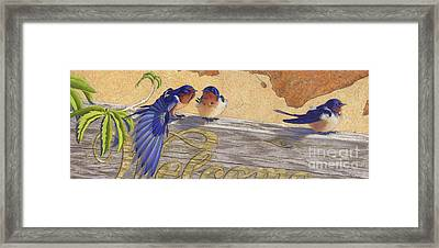 The Welcome Committee Framed Print by Tracy L Teeter