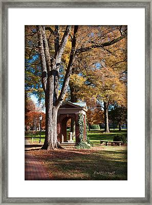The Well - Davidson College Framed Print by Paulette B Wright