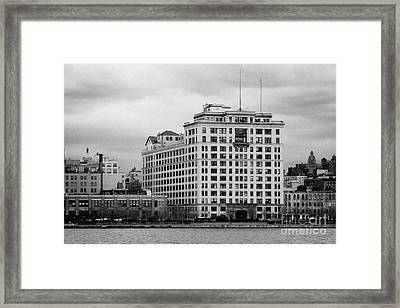 The Westbeth Artists Housing Complex At West St West Village New York City Framed Print by Joe Fox