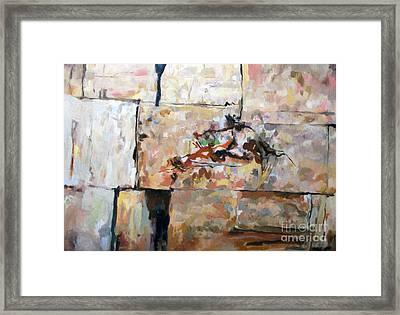 The Western Wall 1c Framed Print by David Baruch Wolk