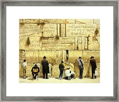 The Western Wall  Jerusalem Framed Print by Graham Braddock