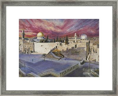 The Western Wall Framed Print by Yael Avi-Yonah