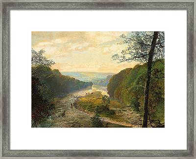 The Wharfe Valley With Barden Tower Beyond Framed Print by John Atkinson Grimshaw