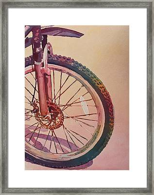 The Wheel In Color Framed Print by Jenny Armitage