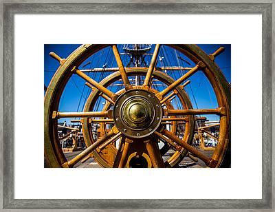 The Wheel Framed Print by Karol Livote