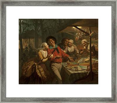 The Wheel Of Fortune, 1861 Framed Print by August de Wilde
