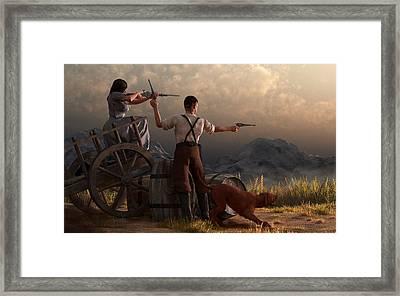 The Whiskey Thieves Framed Print by Daniel Eskridge
