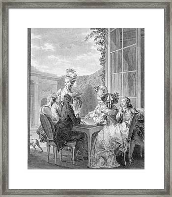 The Whist Party, 1783, Engraved By Jean Framed Print by Jean Michel the Younger Moreau