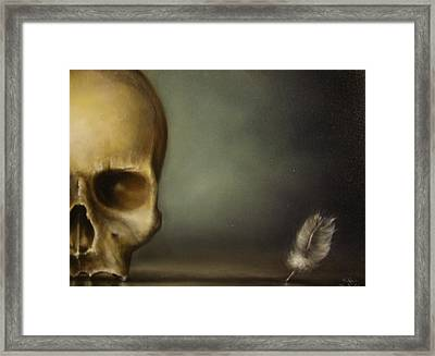 The White Feather Framed Print by Simone Galimberti