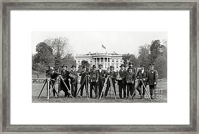 The White House Photographers Framed Print by Jon Neidert