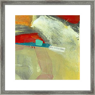The White Line Framed Print by Jane Davies