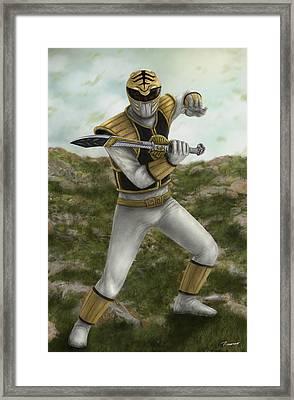 The White Ranger Framed Print by Michael Tiscareno