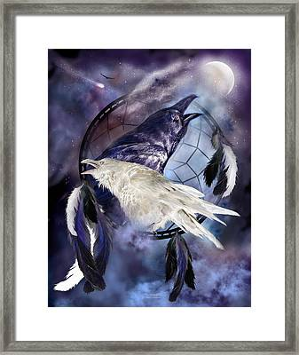 The White Raven Framed Print by Carol Cavalaris