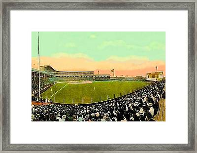 The White Sox Southside Baseball Park In Chicago Il In 1913 Framed Print by Dwight Goss