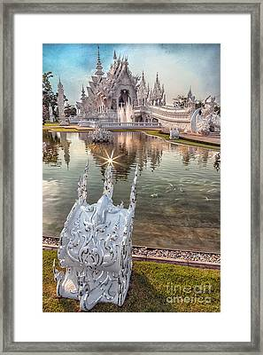 The White Temple Framed Print by Adrian Evans