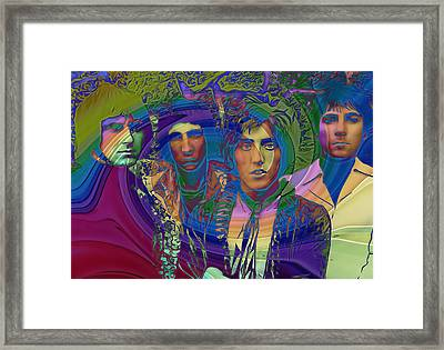 The Who Color Warp Framed Print by Dan Sproul