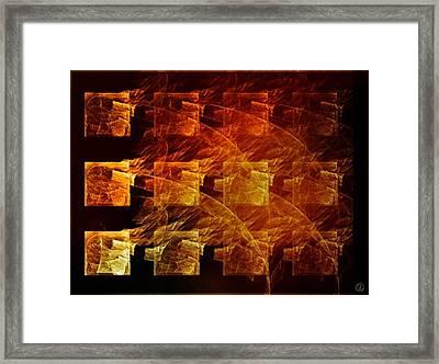 The Whole Block On Fire Framed Print by Gun Legler
