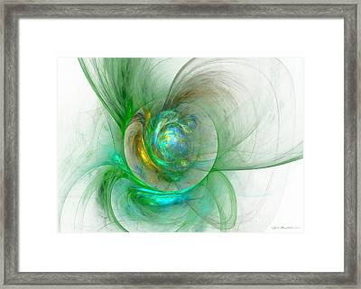 The Whole World In A Small Flower Framed Print by Sipo Liimatainen