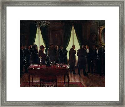 The Widower, 1910 Oil On Canvas Framed Print by Jean Beraud