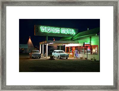 The Wigwam Motel On Route 66 2 Framed Print by Mike McGlothlen