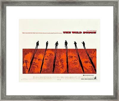 The Wild Bunch, Us Lobbycard, 1969 Framed Print by Everett