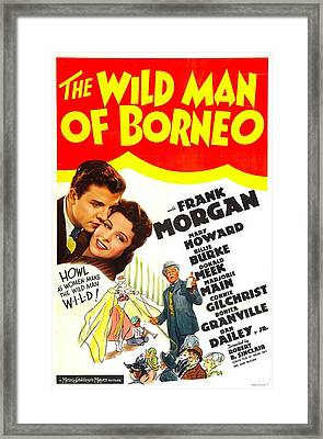 The Wild Man Of Borneo, Us Poster Framed Print by Everett