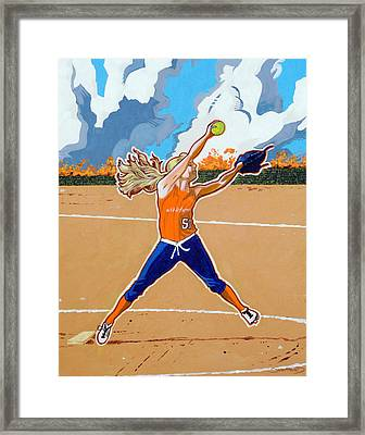 The Wildfire Pitcher Framed Print by Darrell Sheppard