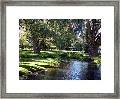 The Willows Of Grand Pre Framed Print by George Cousins