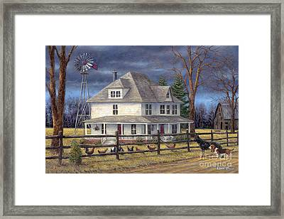 The Wind Takes You Back Framed Print by Chuck Pinson