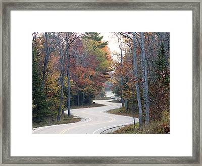 The Winding Road Framed Print by Jim Baker